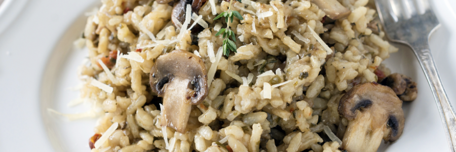 Slow cooked mushroom risotto, more lovely comfort food!